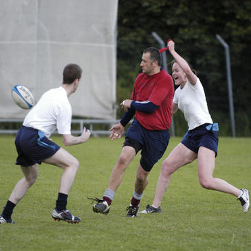 Tag rugby action