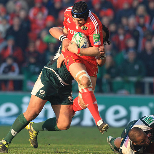 Munster 28 London Irish 14, Thomond Park, Saturday, January 22, 2011