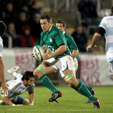 Niall Ronan in action for the Ireland 'A' side