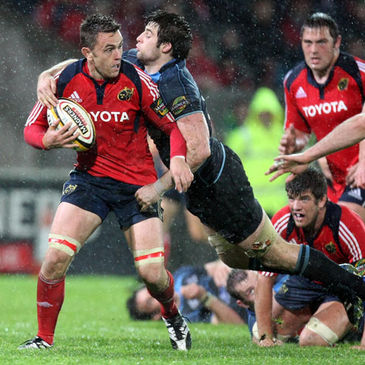 Munster flanker Niall Ronan in action against Glasgow
