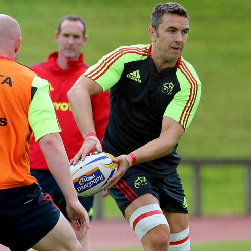 Niall Ronan training with the Munster squad