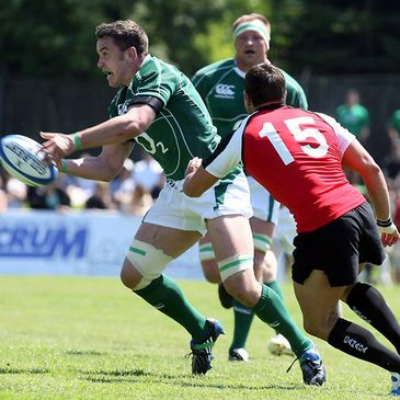 Niall Ronan in action against Canada in May 2009