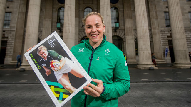 Irish Rugby TV: Niamh Briggs On The Launch Of The #WRWC2017 Stamp