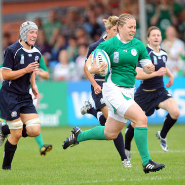 Niamh Briggs in action for Ireland