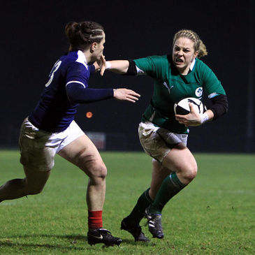 Ireland's Niamh Briggs in action against France