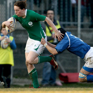 Niamh Kavanagh in action against Italy last season
