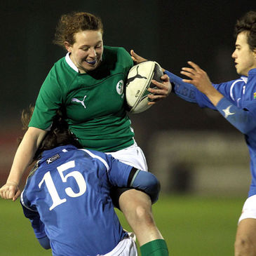 Niamh Kavanagh in action against Italy