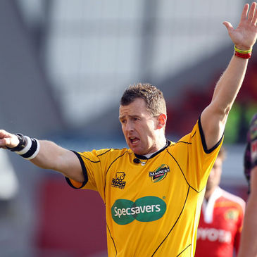 Nigel Owens will be back at Thomond Park this weekend
