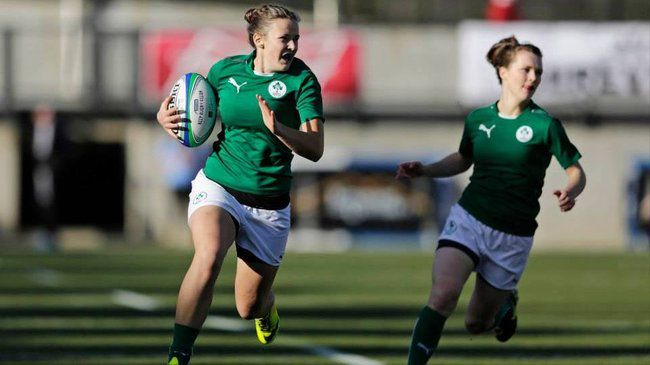 Nikki Caughey makes a break for Ireland