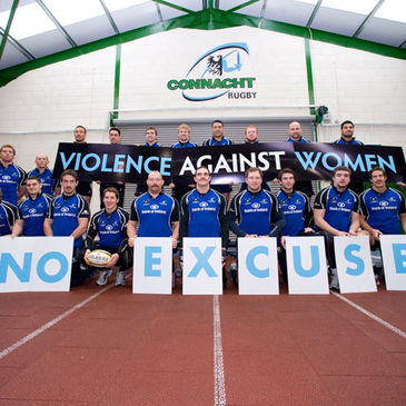 The Connacht players get the message across