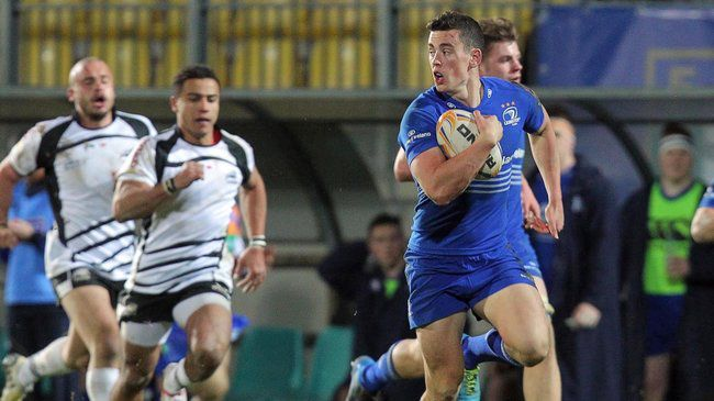 Noel Reid races away to score against Zebre