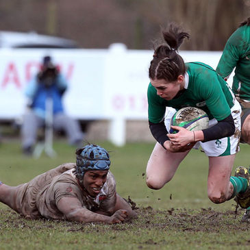 Nora Stapleton in action for Ireland