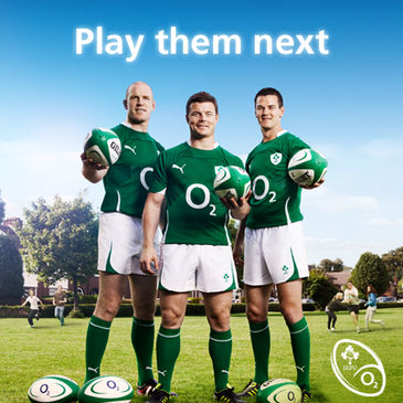 Ireland's Paul O'Connell, Brian O'Driscoll and Jonathan Sexton