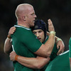 Paul O'Connell and Sean O'Brien, two of Ireland's most effective forwards on the night, embrace each other after the nine-point win