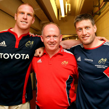 Paul O'Connell, Declan Kidney and Ronan O'Gara helped Munster to European glory in 2006 and 2008
