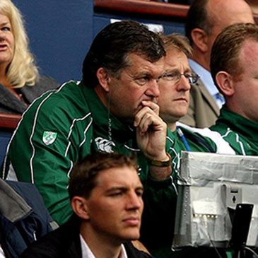 Niall O'Donovan watching on from the stands