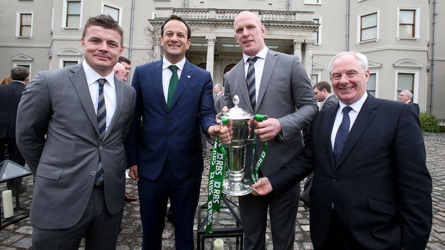 #BehindTheGreen: Farmleigh Reception For Six Nations Winners