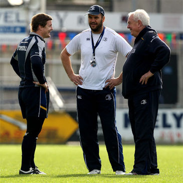 Leinster's Brian O'Driscoll, Michael Cheika and Alan Gaffney