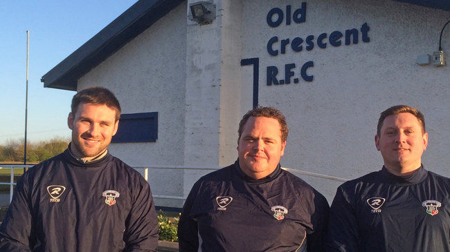 Old Crescent's Eugene McGovern, Joe Nix and Shane Landers