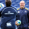 South African duo Ollie Le Roux and CJ Van Der Linde share a joke during the session at the RDS
