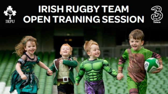 Spooktacular Open Training Session In Aviva Stadium