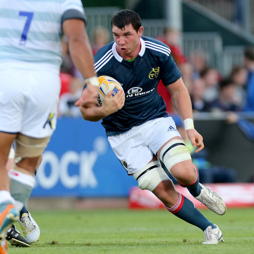 Paddy Butler in action for Munster