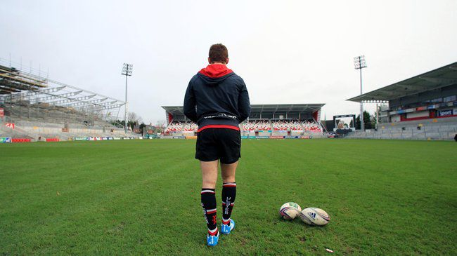 Paddy Jackson is pictured at Ravenhill in December