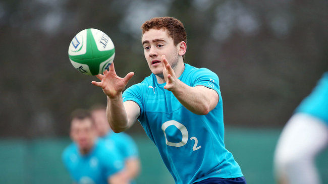 Paddy Jackson training with the Ireland squad