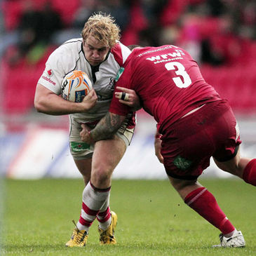 Young prop Paddy McAllister in action for Ulster