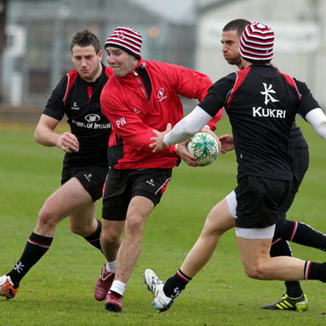 Paddy Wallace training with the Ulster squad