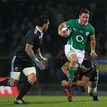 Paddy Wallace in action against New Zealand Maori