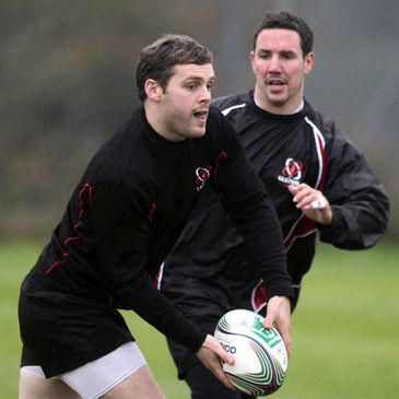 Ulster's Darren Cave and Paddy Wallace