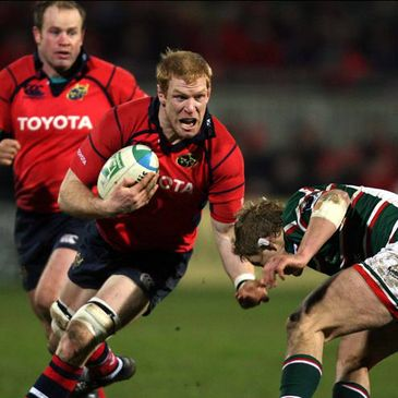 Munster's Paul O'Connell in action against Leicester