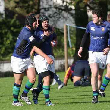 Prop Paul Karayiannis was one of Queen's try scorers