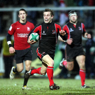 Paul Marshall breaks clear for Ulster Ravens
