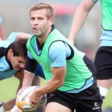 Paul Marshall training with the Ulster squad