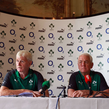 Paul McNaughton and Alan Gaffney at Monday's press conference