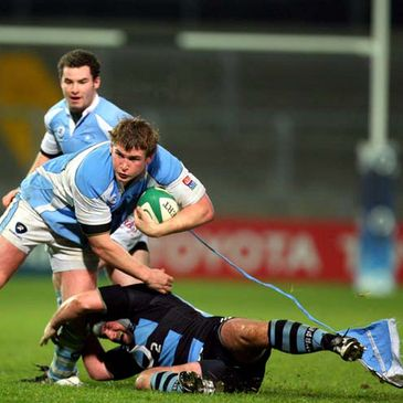Garryowen captain Paul Neville loses part of his jersey