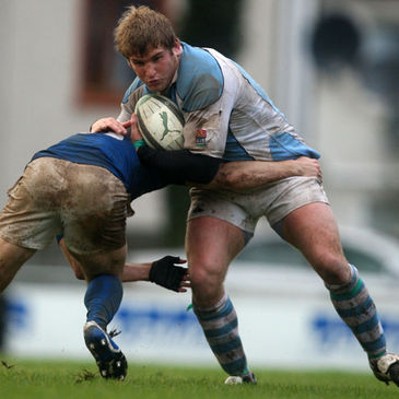 Garryowen flanker Paul Neville in action against St. Mary's College