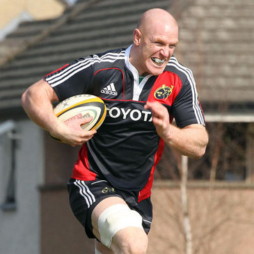 Paul O'Connell training with the Munster squad