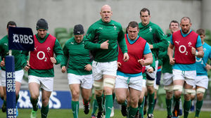 Ireland Captain's Run Session At The Aviva Stadium, Saturday, February 1, 2014