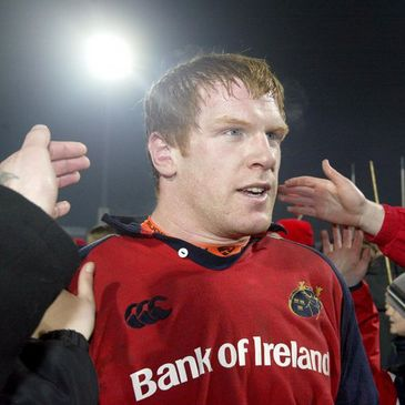 Paul O'Connell in a Bank of Ireland-sponsored jersey