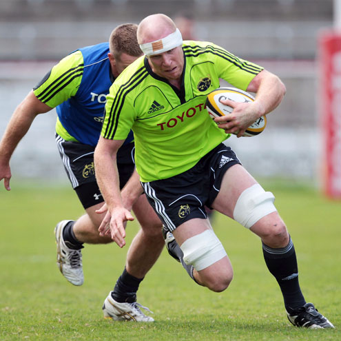 Photos of the Munster players training ahead of the Magners League grand final