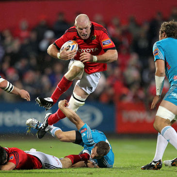 Munster captain Paul O'Connell in action against Aironi