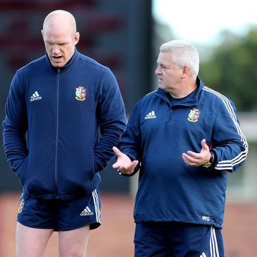 Paul O'Connell with Lions head coach Warren Gatland