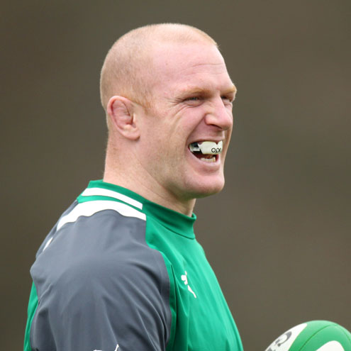 Injured Ireland second row Paul O'Connell