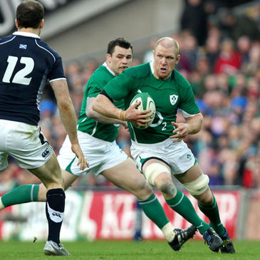 Ireland's Paul O'Connell in action against Scotland