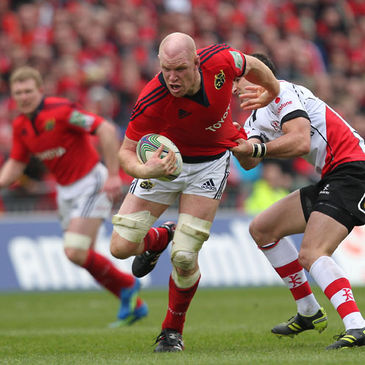 Captain Paul O'Connell in action against Ulster