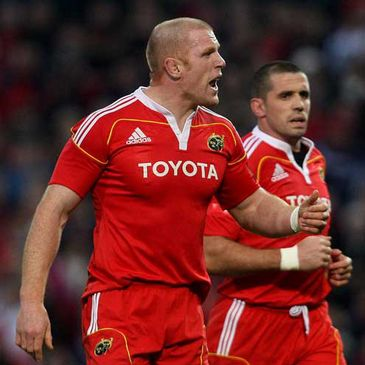 Munster's Paul O'Connell and Alan Quinlan