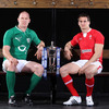 Ireland's RBS 6 Nations captain Paul O'Connell comes face to face with Wales skipper Sam Warburton ahead of the sides' Championship opener on Sunday, February 5